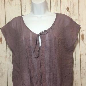 5/$10 MINE sheer blouse